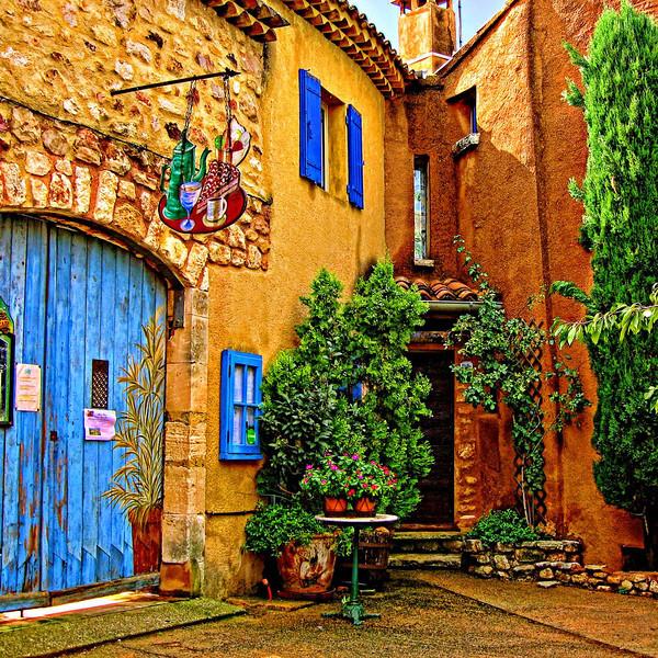 Restaurant, Rousillon, Provence