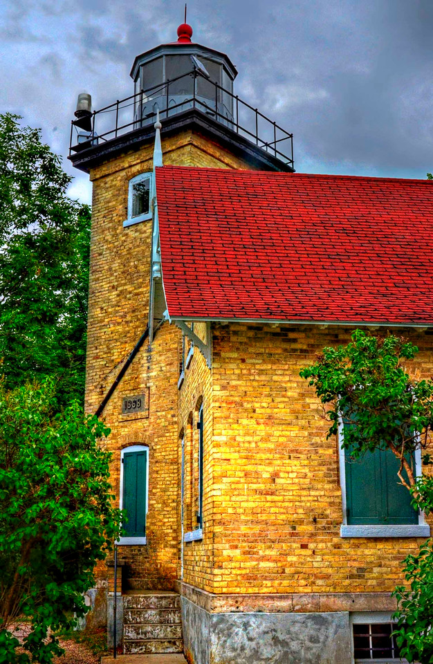 The 19th century lighthouse at Peninsula State Park in Door County, Wisconsin