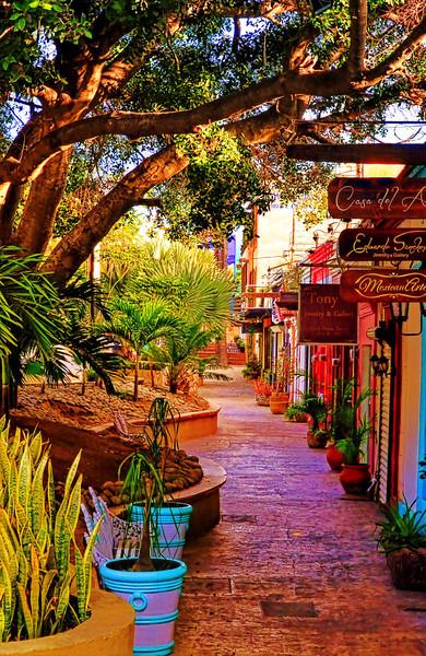 Shops in plaza, San Jose Del Cabo