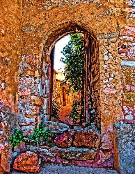 Wall and Gate, Rousillon, Provence