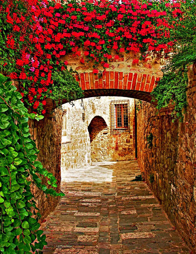 Flower Arch, San Quirico d'Orcia, Tuscany