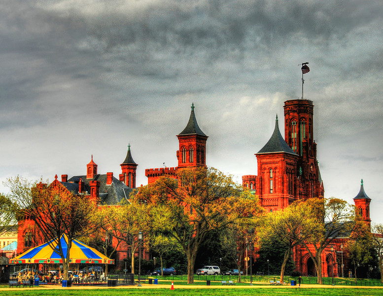 Smithsonian Castle in Washington DC. Taken as an HDR.