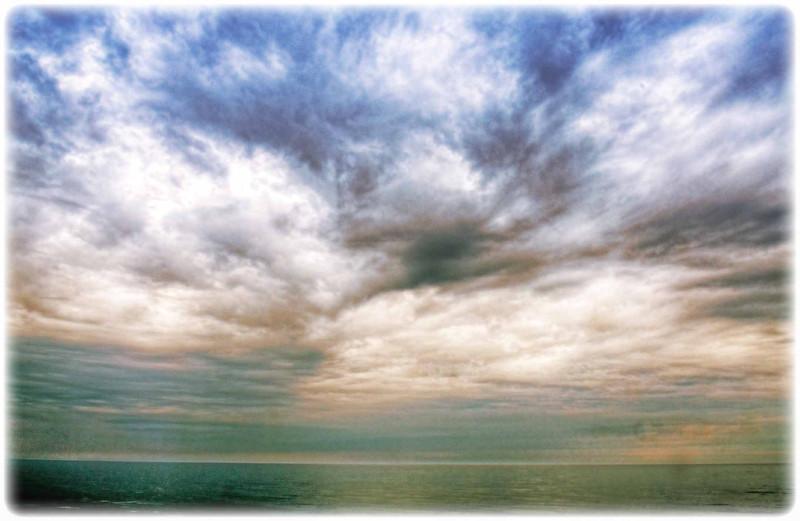 Morning clouds over Lake Michigan taken in Door County, Wisconsin.