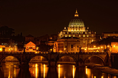 St. Paul's Basilica at Night