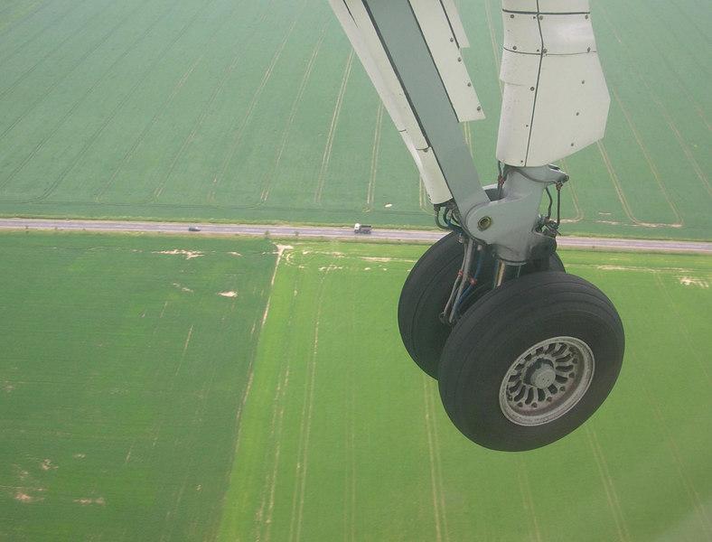 Landing in Prague, 2006.