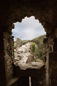 To the battlements - the once impregnable Corfe Castle , Wareham