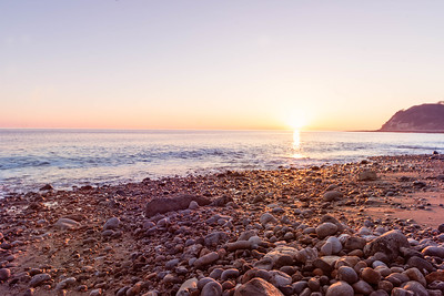 English Channel Sunset - Charton Bay, Rousdon via Lyme Regis