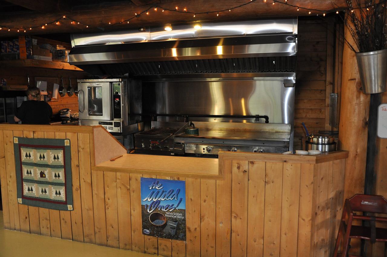 The kitchen at Sugar Moon Farm in Earltown, Nova Scotia