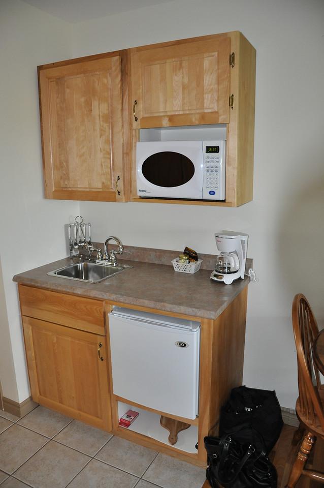 Stonehame Lodge kitchen area