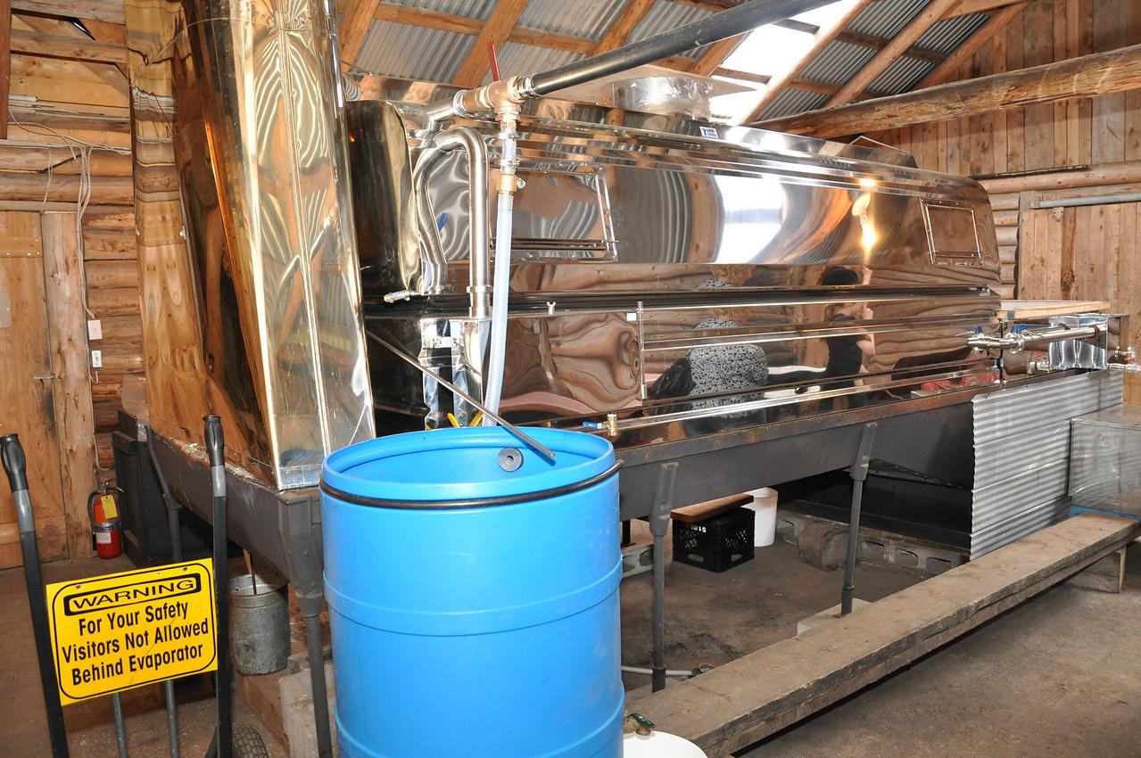 The Maple Syrup reducing vat at Sugar Moon Farm in Earltown, Nova Scotia