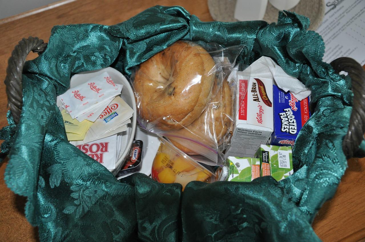 Breakfast basket from Stonehame Lodge