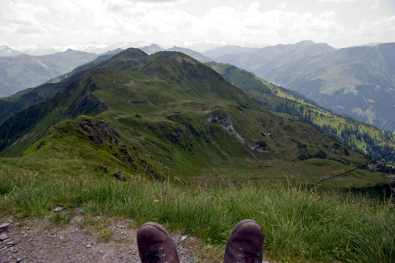 Blick vom Brechhorn Gipfel