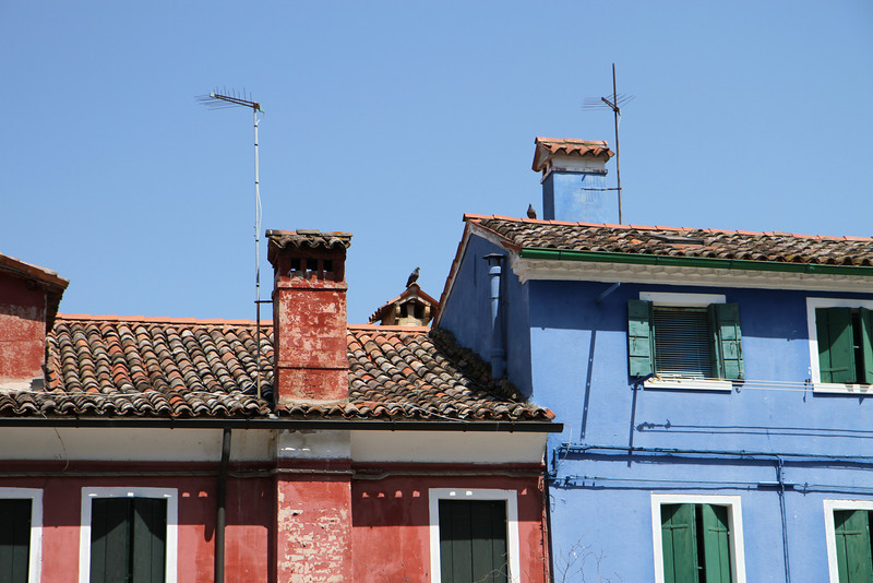 On the island of Burano where Venitian lace is made