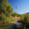 Hot air Baloon over a creek
