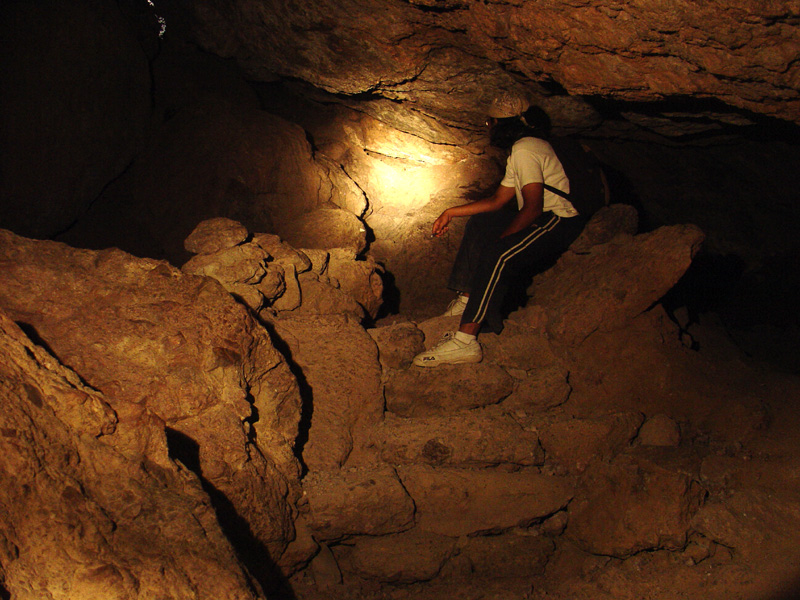 Inside the Balconies cave