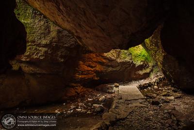 Inside Bear Gulch Cave - Pinnacles National Monument.