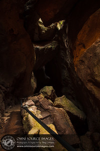 Inside Bear Gulch Cave - Pinnacles National Monument.