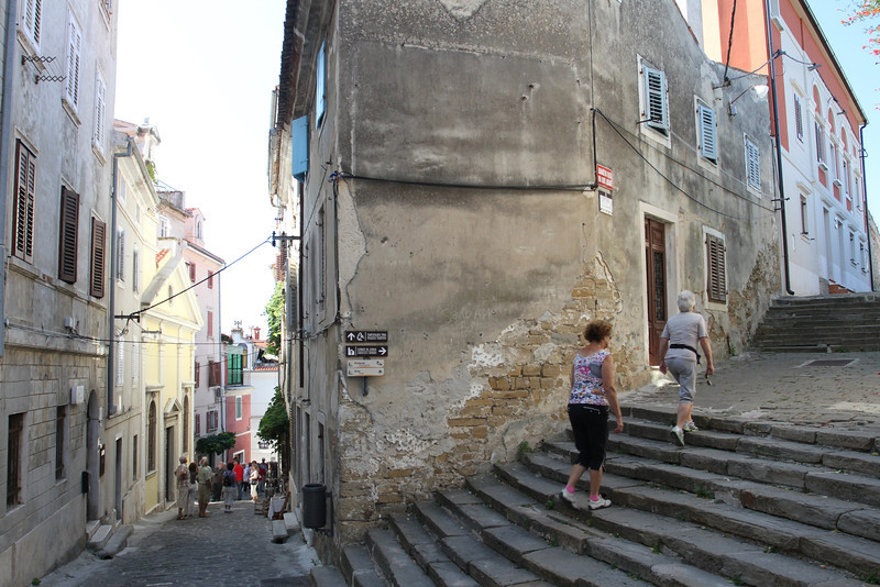 Alleyway and steps leading to the Bell Tower