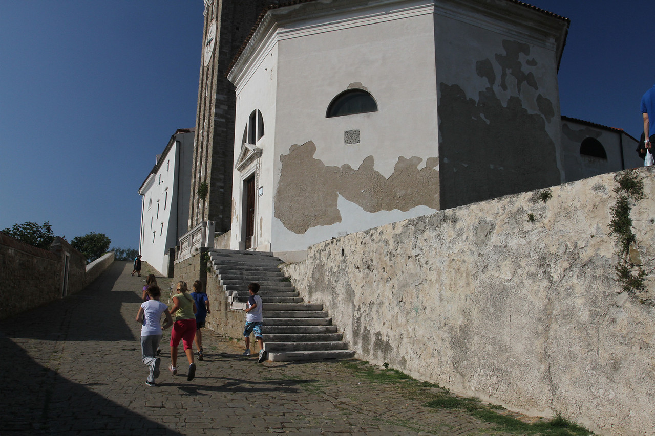 On the path to the Bell Tower and the Cathedral of St. George and surroundings