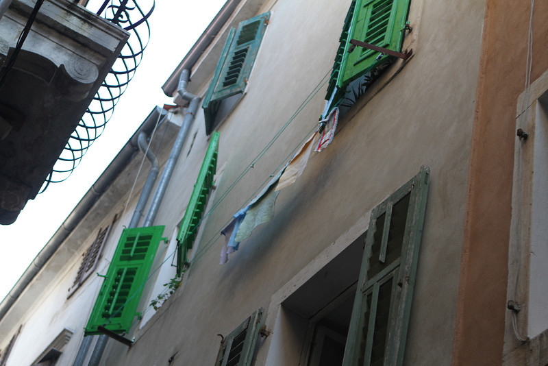 Some of the shutters HAVE been painted recently