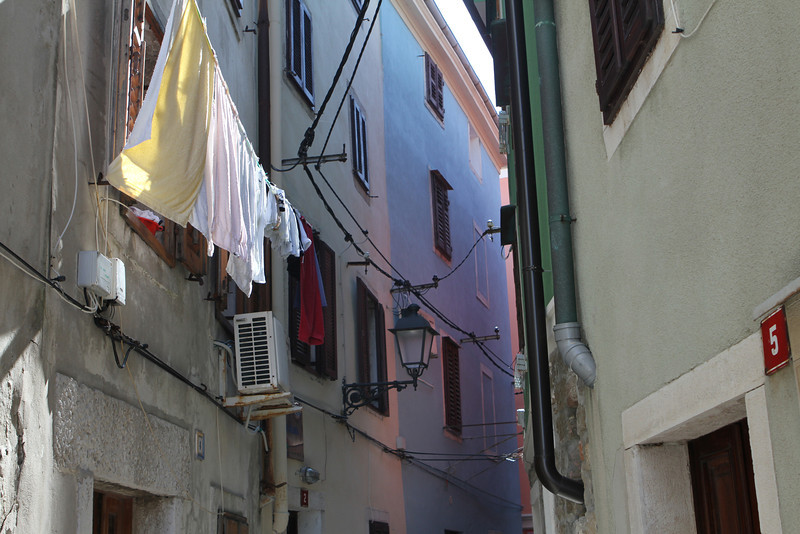 A town filled with clean laundry drying