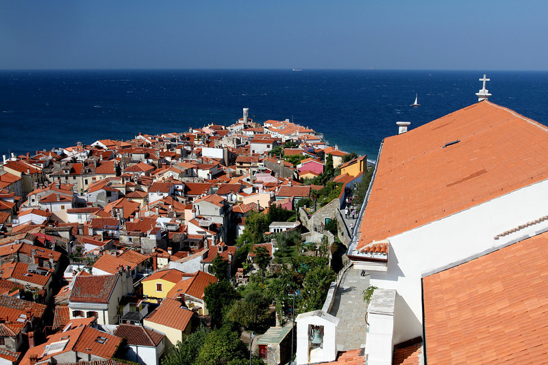 No place for growth - tight knit Piran stays under a population of 4,200 with absolutely no interest for high rise tourist hotels.  Remaining small keeps it special.