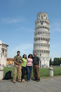 At the leaning tower of Pisa, Italy.