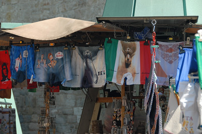 Shopping near  the leaning tower of Pisa, Italy.