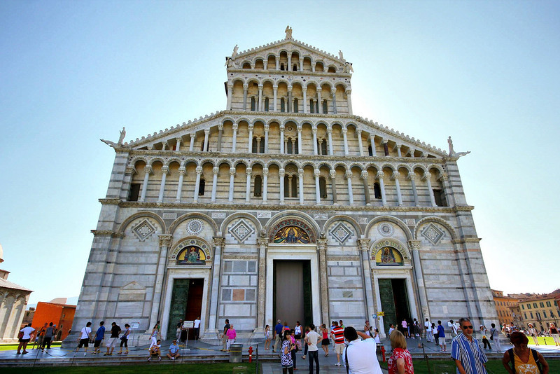 The Duomo at Pisa was spectacular inside, but due to a service in progress we were not allowed full access. We were able to walk through the foyer briefly to appreciate its grandeur in person, however.
