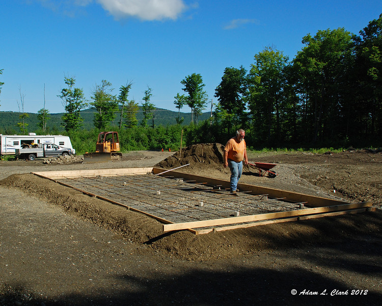 Prep work before pouring the concrete for the camper port