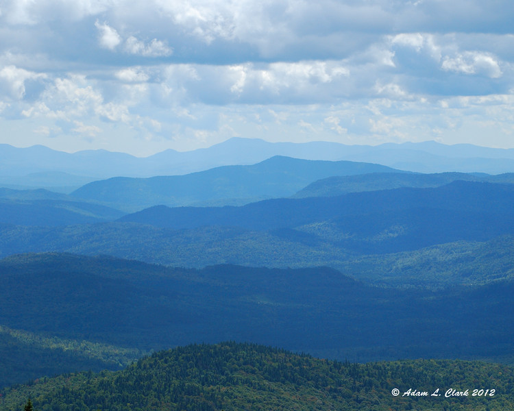 The White Mtns to the south