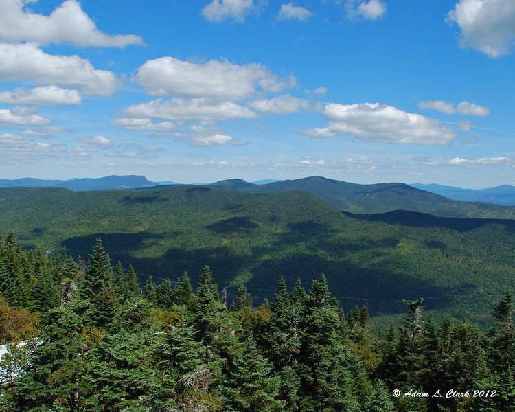 View to the north from the fire tower on the summit