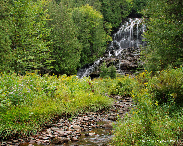 On the way home, we made a quick stop at Beaver Brook Falls in Colebrook