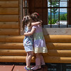 Liliana and Autumn giving each other a hug just before Autumn and family needed to head back to Montana