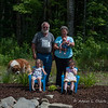Family photo of Grammy, Grampy, and their granddaughters