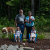 Grammy and Grampy wanted a family photo with their Granddaughters.  Pebbles decided she wanted to be in it too