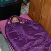 Liliana wanted to spend some time in her sleeping bag after waking up