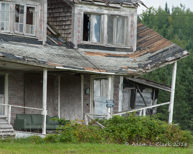 The condition of the porch roof is probably the worst part of this house