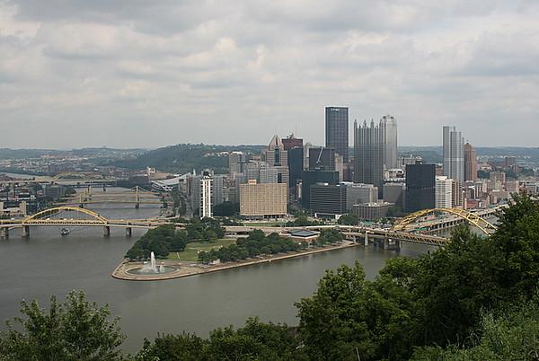 Mt Washington overlooking the city of Pittsburgh