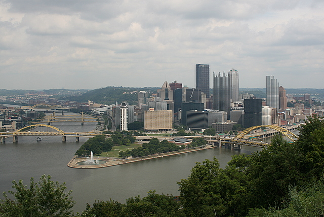 Mt Washington overlooking the city of Pittsburgh