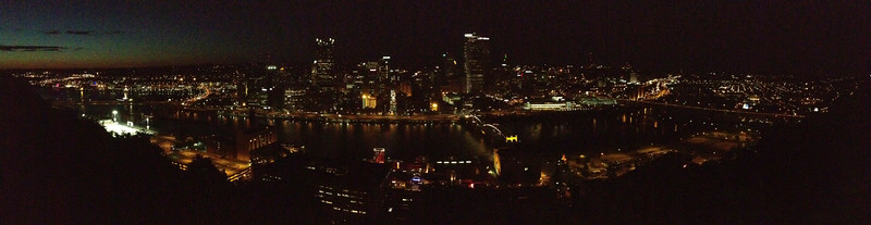 Pittsburgh from at the top of a Mt. Washington Incline