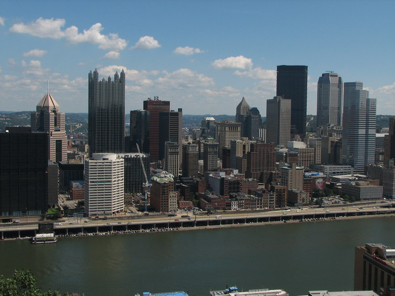 The skyline of Pittsburgh, viewed from Mount Washington.