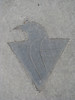 Penguin Logo in Sidewalk outside Mellon Arena