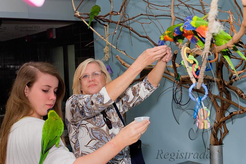 Taylor and Linda at the National Aviary
