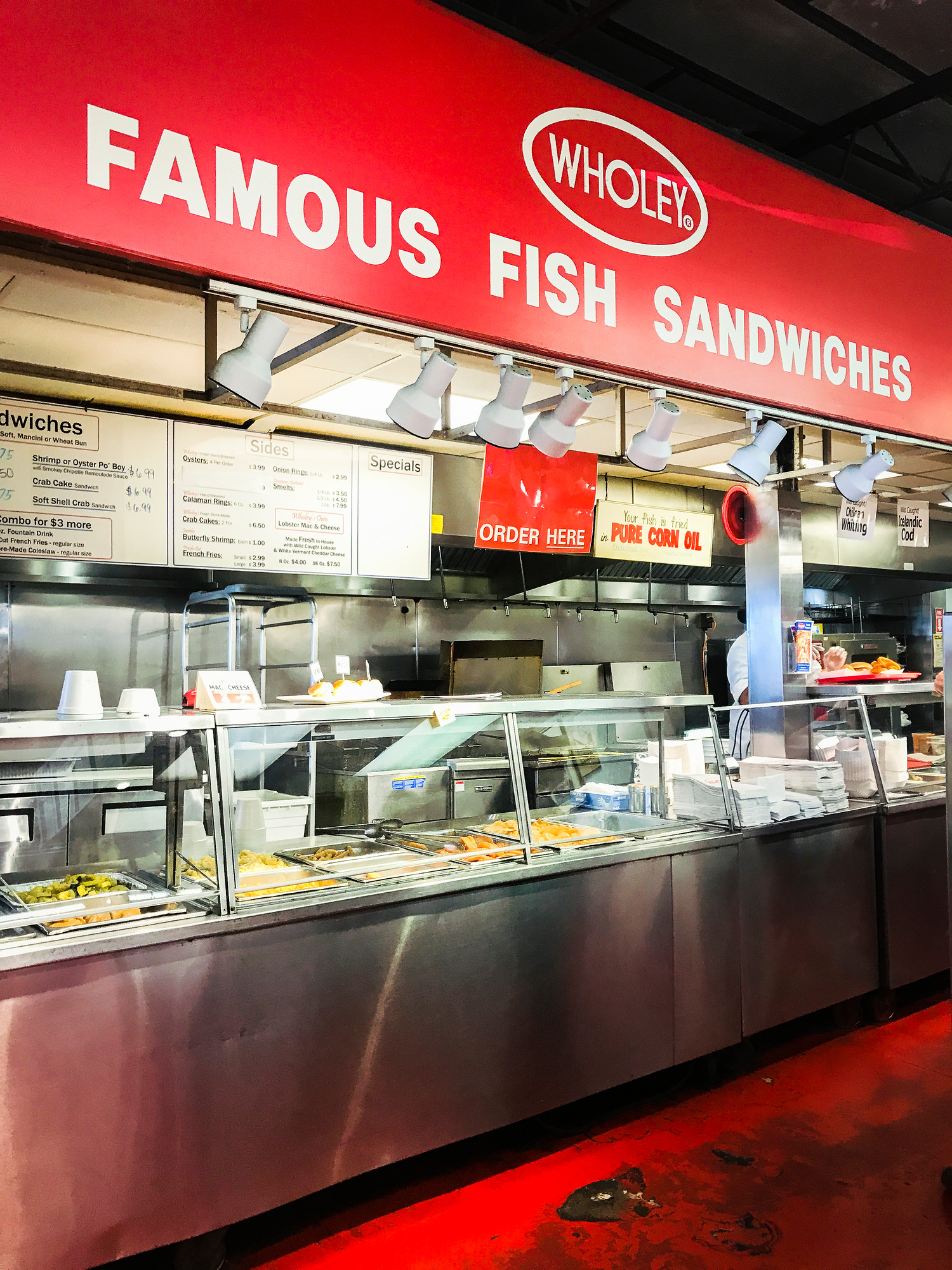 Where to Eat in Pittsburgh: Wholey's Fish Market is the best place for a fish sandwich