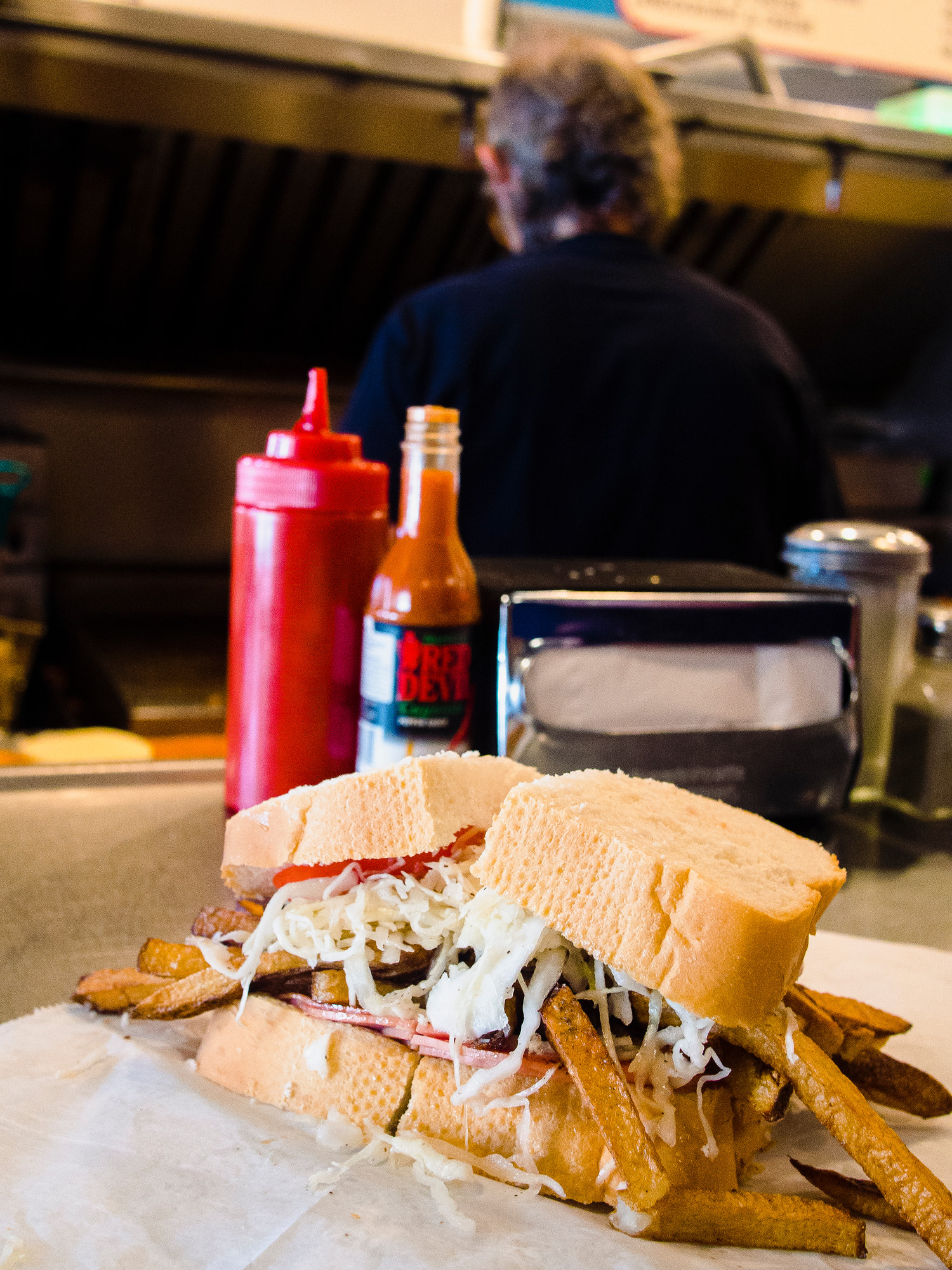 Where to eat in Pittsburgh: Primanti's on the strip is one of the iconic foods of Pittsburgh.