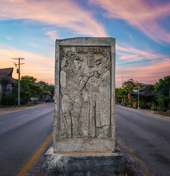 The Mayan Stela on the Road to Coba