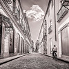 Taking a Bike Ride in Old Havana (BW)
