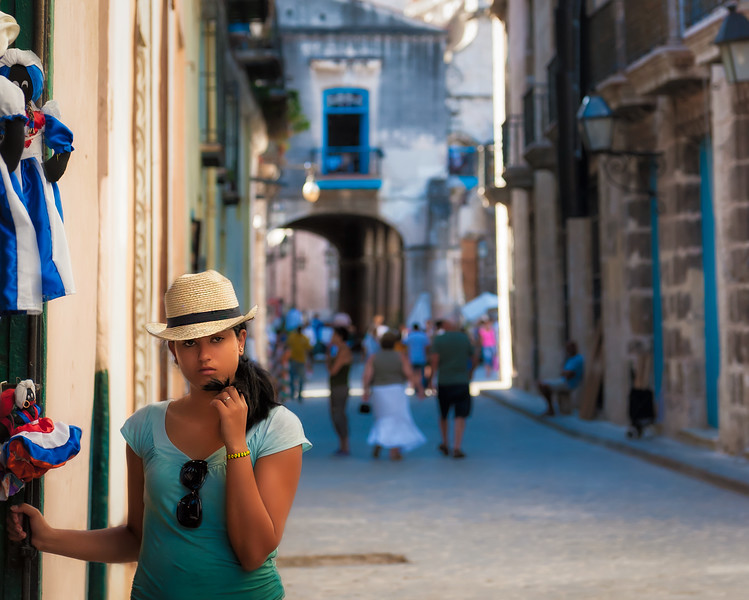 Cuban Girl with a Fedora