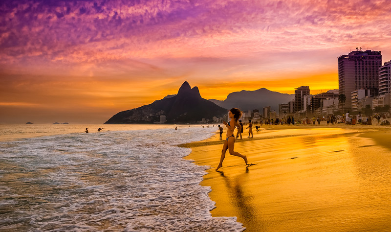 Ipanema Girl Going for a Swim